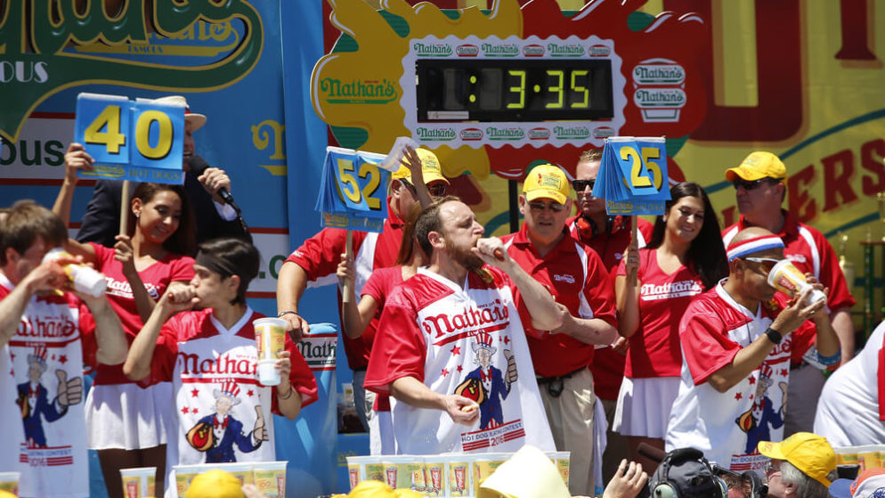 You Can Now Bet on the Nathan's Famous 4th of July Hot Dog Eating Contest